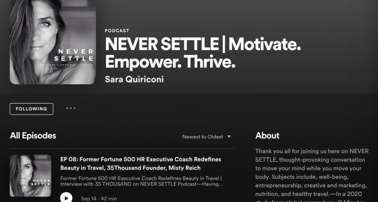 never settle podcast spotify